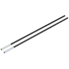 CAMPZ Glasfaserstab mit Hülse 11mm/0,55m schwarz